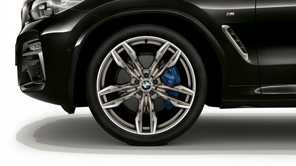 BMW X4 M 21-Zoll M Leichtmetallräder im Doppelspeichen-Design
