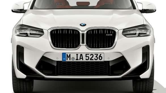 BMW X3 M F97 LCI Facelift 2021 Alpinweiß Frontdesign Frontansicht