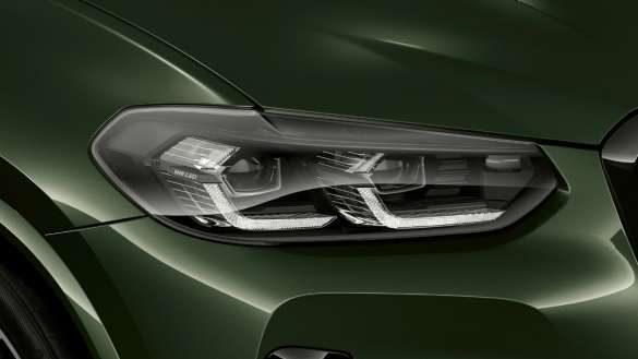 BMW X3 M40i M40d G01 LCI Facelift 2021 Malachitgrün metallic BMW Individual Leuchten Shadow Line