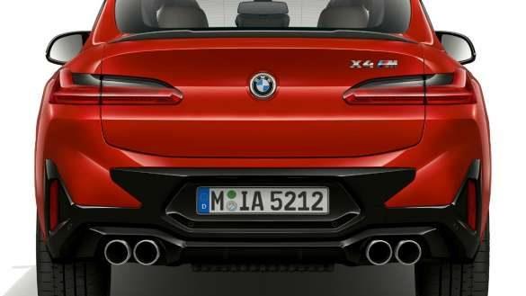 BMW X4 M F98 LCI Facelift 2021 Toronto Rot metallic Heckansicht